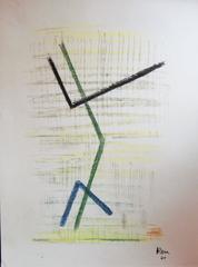 Abstract Mixed Media Drawing