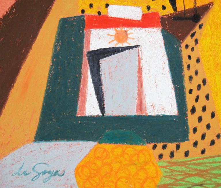 Abstract Boat Composition - Mid 20th Century Mixed Media by George De Goya For Sale 1