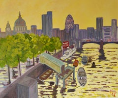 """""""Early Morning River Thames""""  Impressionist Piece of London"""