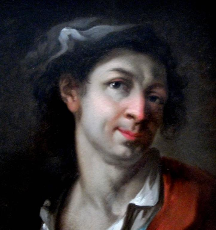 Portrait of an artist - Painting by Giosuè Scotti