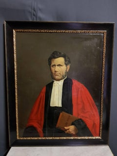 19th Cent Academic French School Portrait of famous Senator Mayor and Lawyer.
