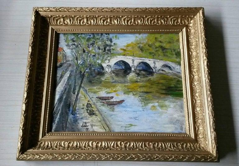 French Post Impressionist Bord de Seine Landscape Painting 4