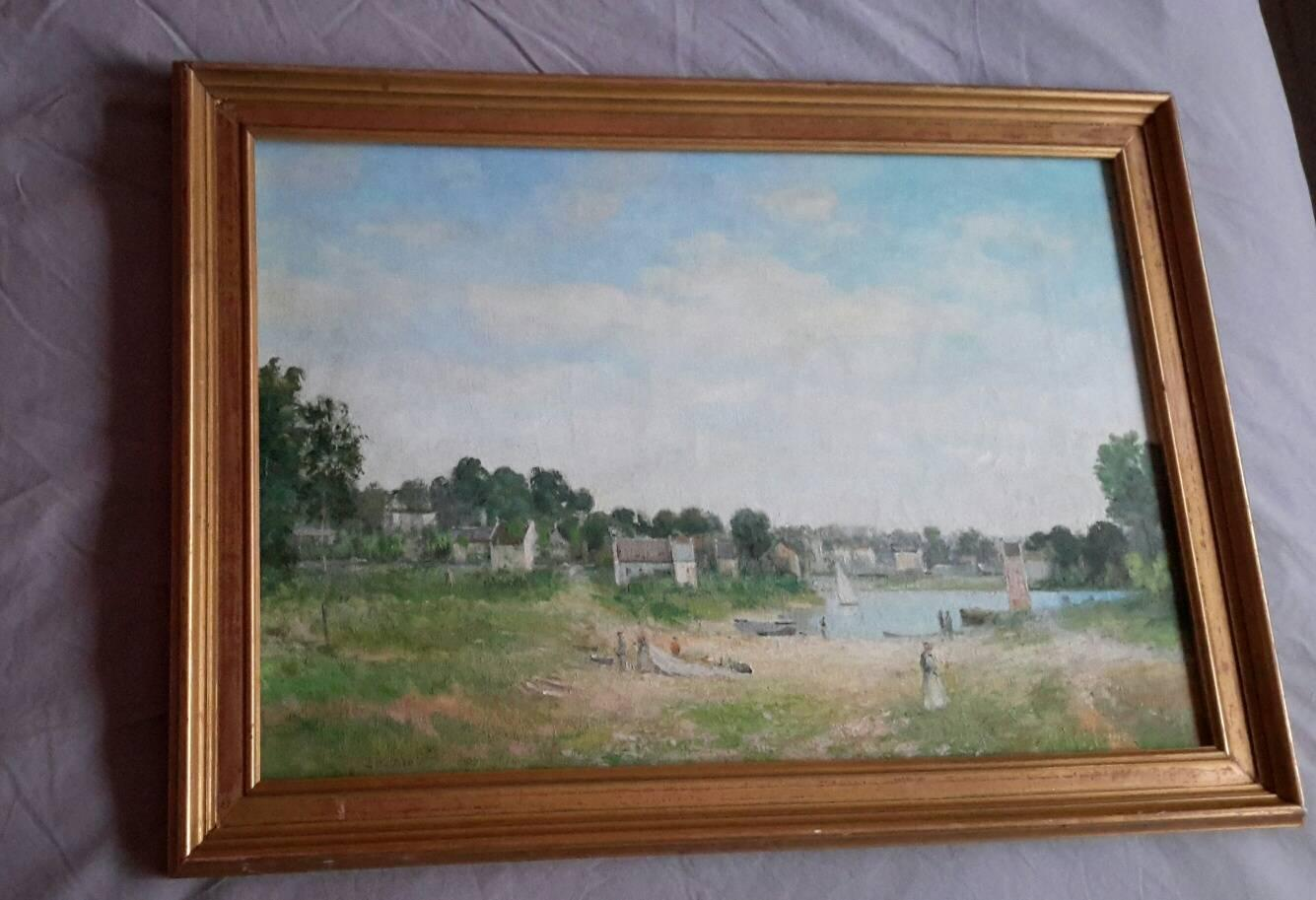 Post Impressionist  Style Brittany Landscape Oil by Jan Znosko