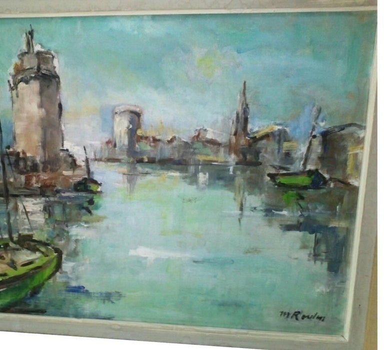 French Post Impressionist Marina  Painting by Rossini For Sale 3