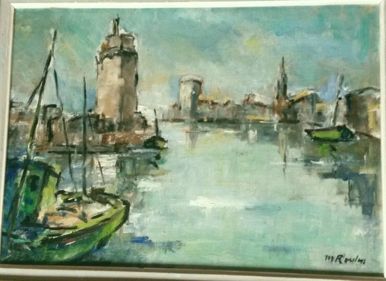French Post Impressionist Marina  Painting by Rossini For Sale 4
