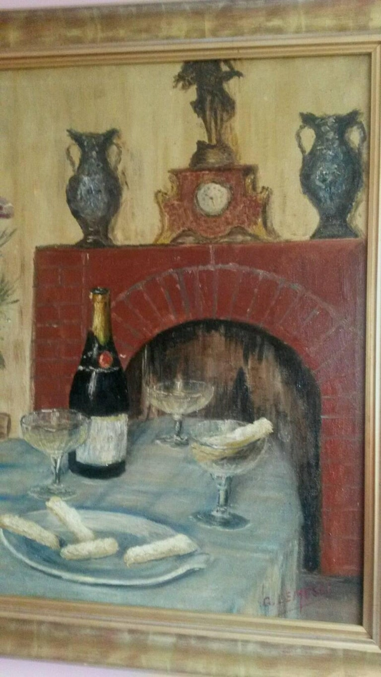 French Post Impressionist Still Life by G.Lesmele, Paris 1930's - Post-Impressionist Painting by Unknown