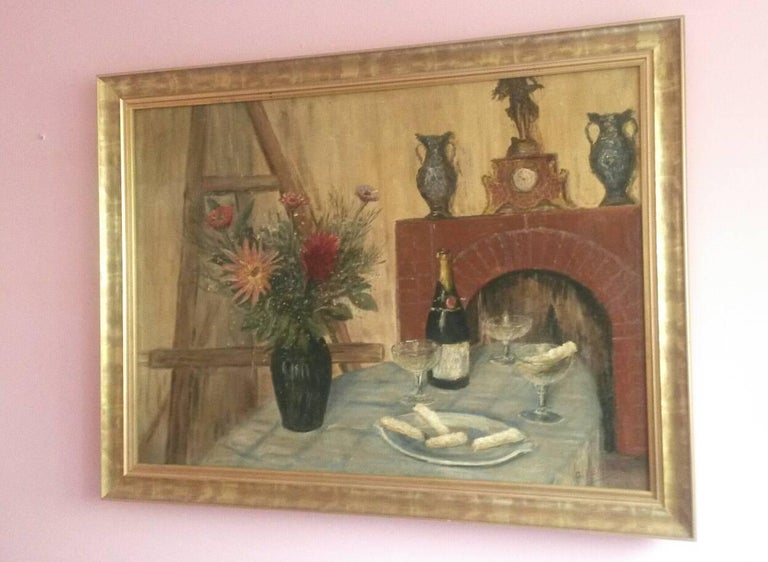 French Post Impressionist Still Life by G.Lesmele, Paris 1930's For Sale 2