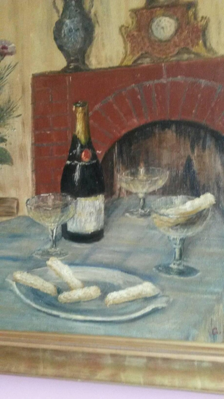 French Post Impressionist Still Life by G.Lesmele, Paris 1930's For Sale 1