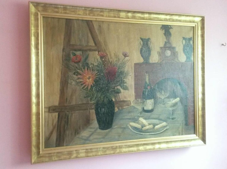 French Post Impressionist Still Life by G.Lesmele, Paris 1930's For Sale 3