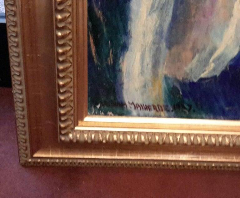 Portrait of Mademoiselle Malherbe - Post-Impressionist Painting by William Malherbe