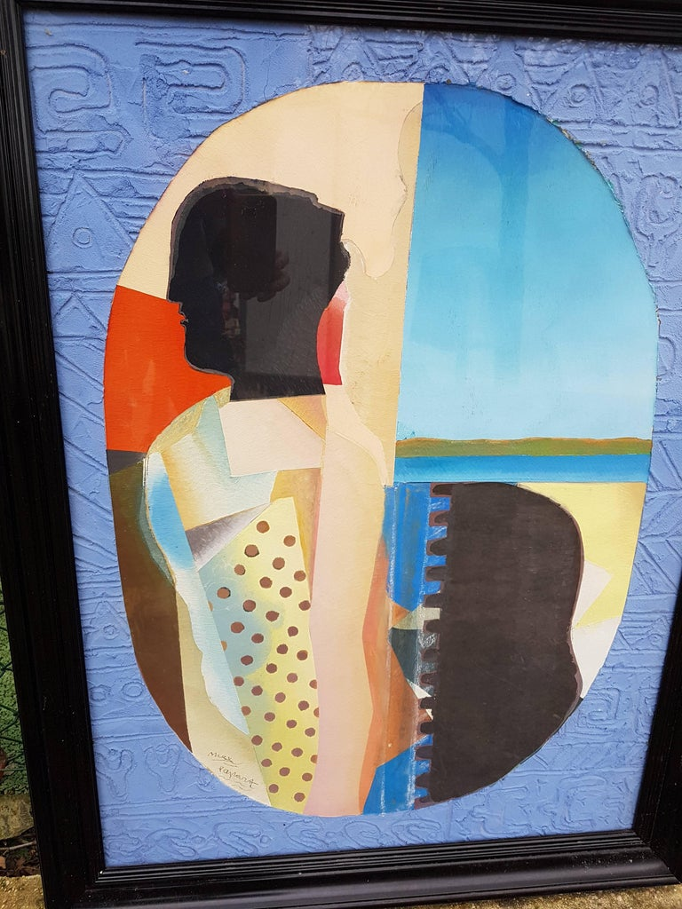 Rare Post Cubist French Painting  For Sale 2