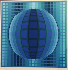 Signed and Numbered Op Art Print by Victor Vasarely