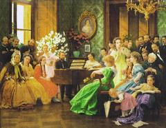 Bedrich Smetana and his friends in 1865