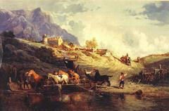 Ferrying Livestock across an Alpine Stream