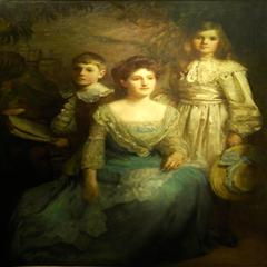 Portrait of a Mother and Two Children