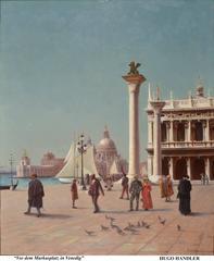 Vor dem Markusplatz in Venedig