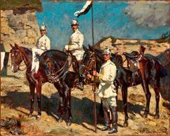 German Army Scene in North Africa, World War I