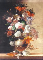 Vase de fleurs sur en entablement