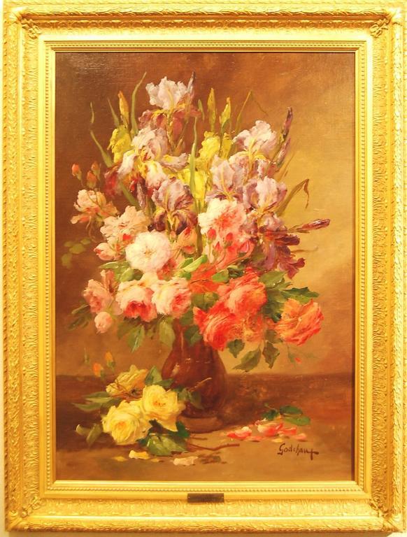 Emile Godchaux Still-Life Painting - Bouquet de fluers