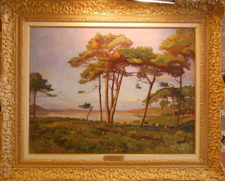 Bord de mer - Painting by Raymond Jean Verdun