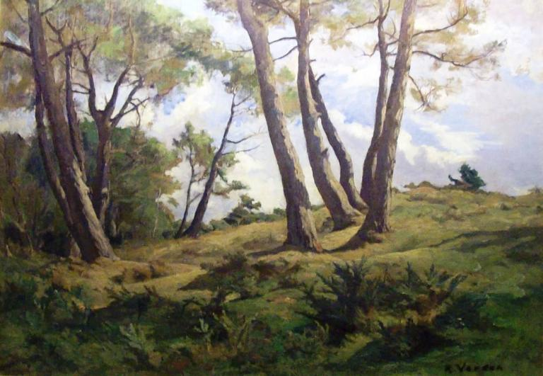 Raymond Jean Verdun Landscape Painting - Paysage