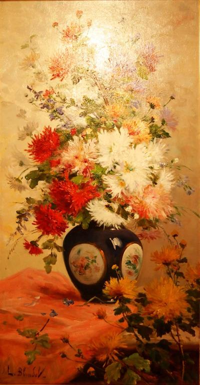 Leonie Desouches nee Blondel Still-Life Painting - Bouquet of Flowers in a Vase