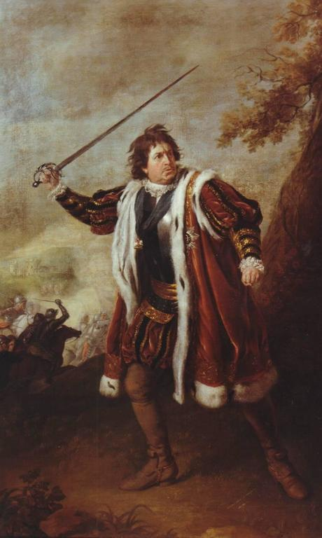 Nathaniel Dane-Holland Portrait Painting - Portrait of David Garrick as Richard III (Act 5)