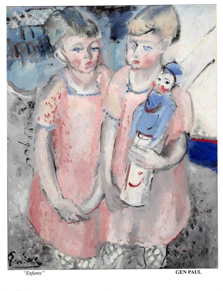 GEN PAUL Still-Life Painting - Enfants