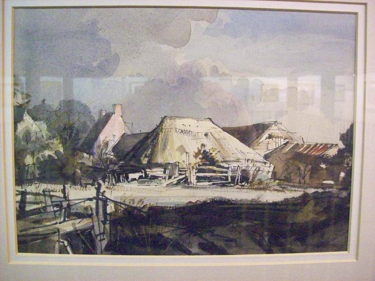 Rowland Hilder Still-Life Painting - Thatched Barn