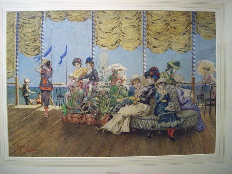 Giuseppe Aureli Interior Painting - The Bathing Party