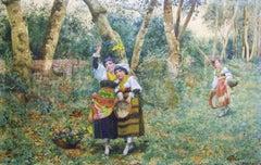 La cueillette des fleurs des bois