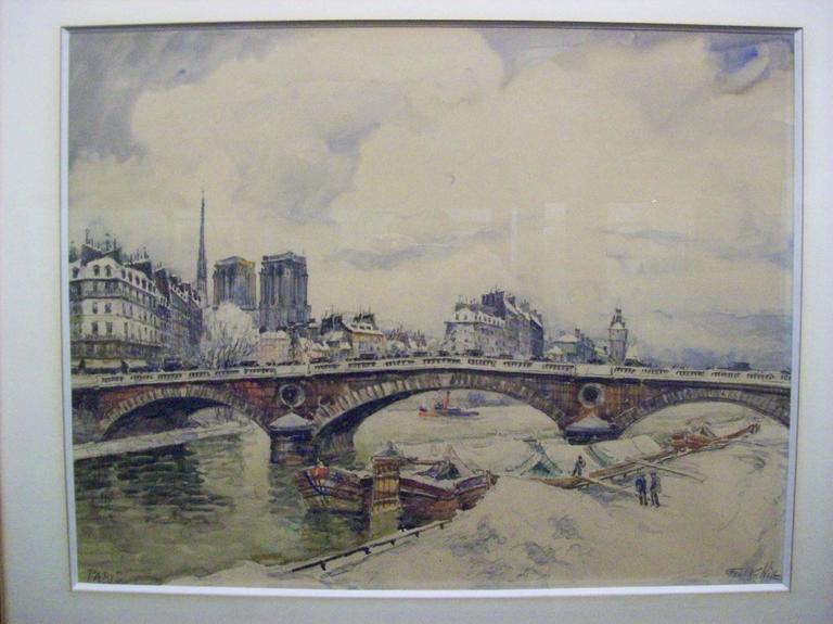 Frank Will Interior Painting - Paris-La Siene, Notre Dame et les Quais sous la Neige