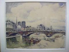 Paris-La Siene, Notre Dame et les Quais sous la Neige