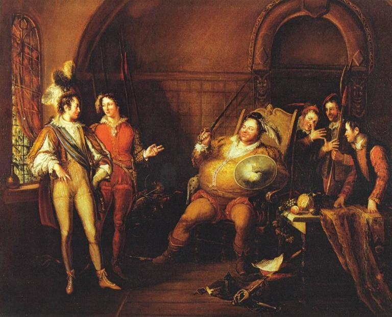 John Cawse Interior Painting - Falstaff and Prince Hal