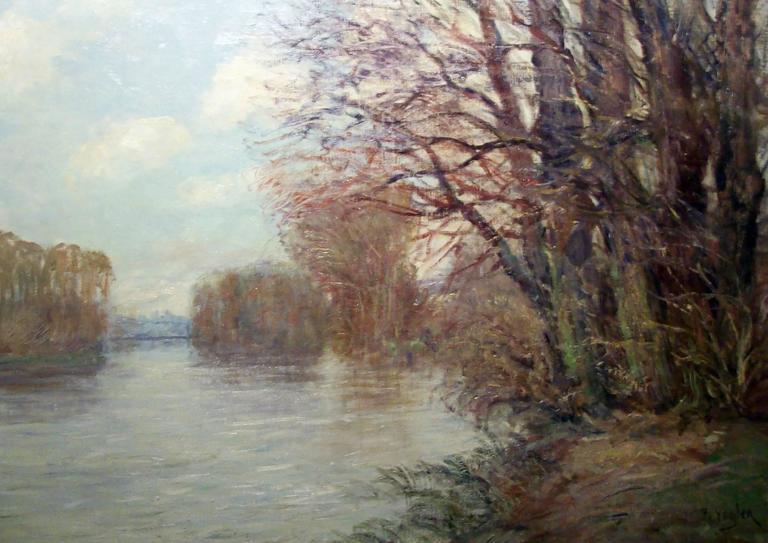 Paul Vogler Landscape Painting - Bord de Riviere