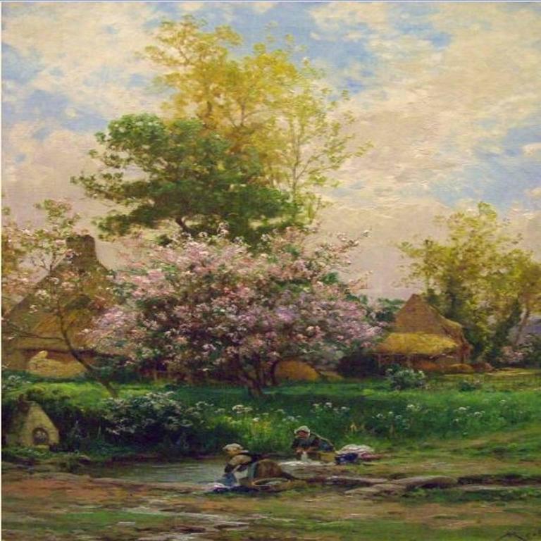 Albert Gabriel Rigolot Landscape Painting - Paysage Printanier