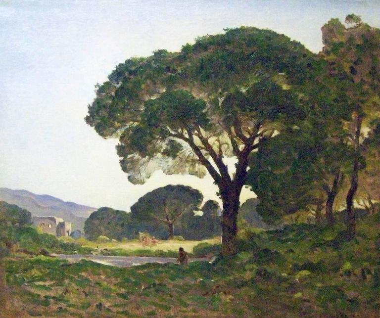 Raymond Jean Verdun Landscape Painting - Au bord de l'eau