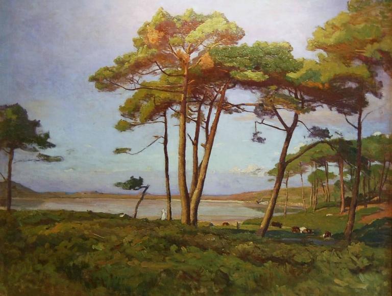 Raymond Jean Verdun Landscape Painting - Bord de mer