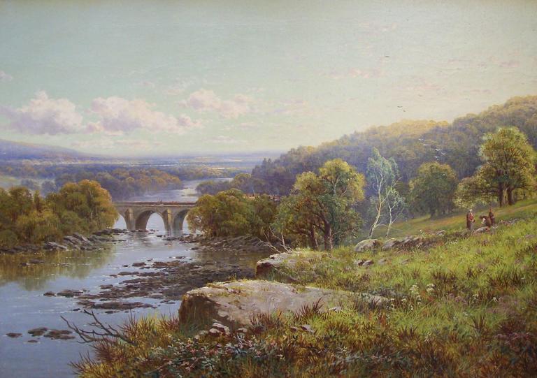 Edmund John Niemann Landscape Painting - Richmond, Yorkshire