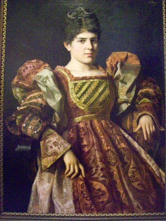 Anton Nowak Portrait Painting - An Austrian lady in court dress