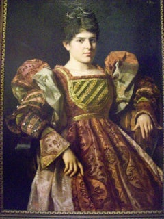 An Austrian lady in court dress