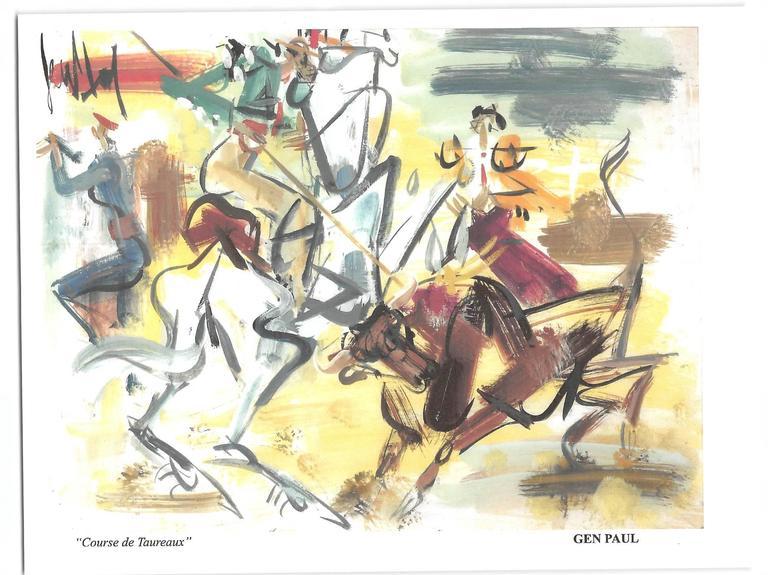 GEN PAUL Interior Painting - Course de Taureaux