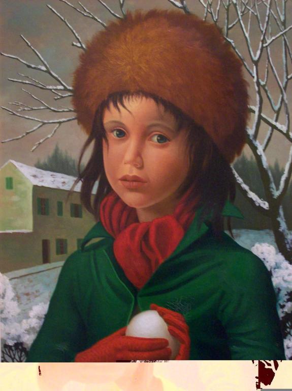 Philippe Bonamy Portrait Painting - Boule de Neige