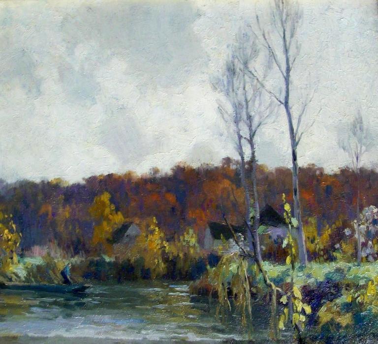 Alexandre Louis Jacob Landscape Painting - Le Morin aux Closeaux