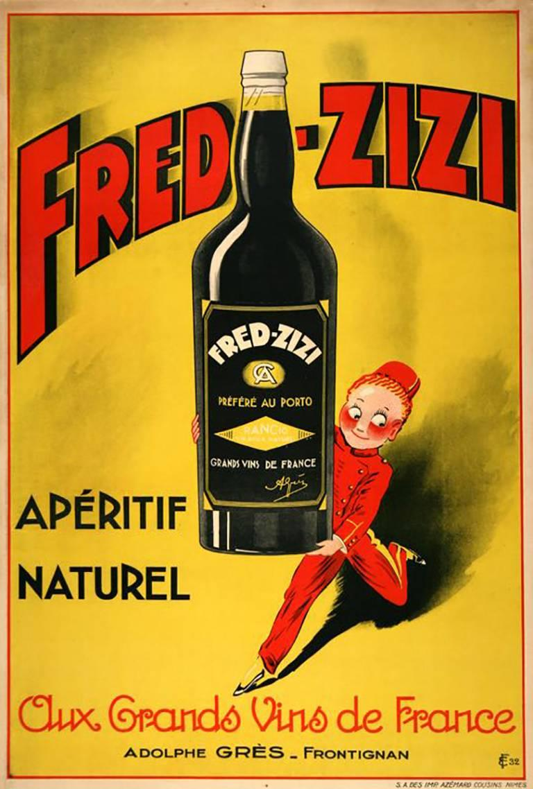 Fred-Zizi Aperitif Vintage Poster