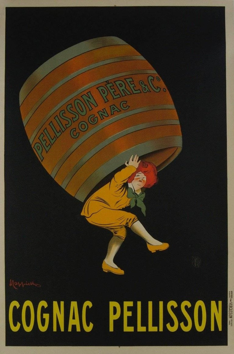 Cognac Pellisson Père & Co. Vintage Poster