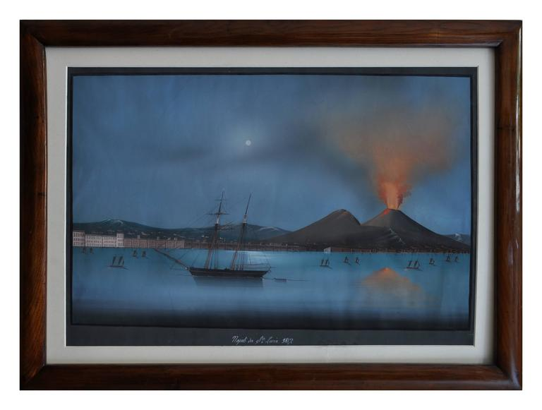 Unknown Landscape Painting - NAPLES FROM SANTA LUCIA