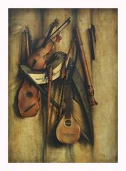 STILL LIFE - Italian oil on canvas painting, Francesca Strino