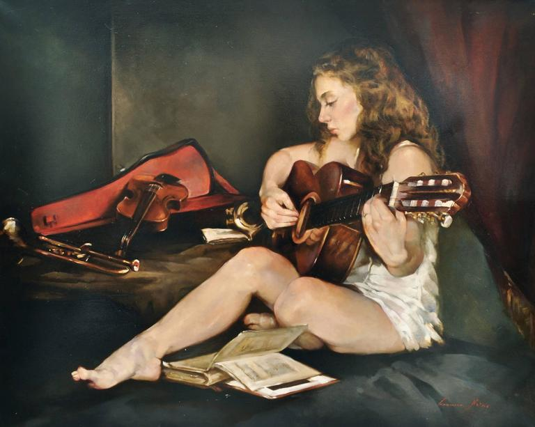 THE GUITAR - Painting by Francesca Strino