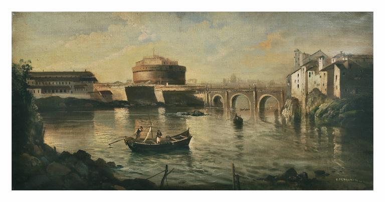 Ettore Ferrante Landscape Painting - ROME